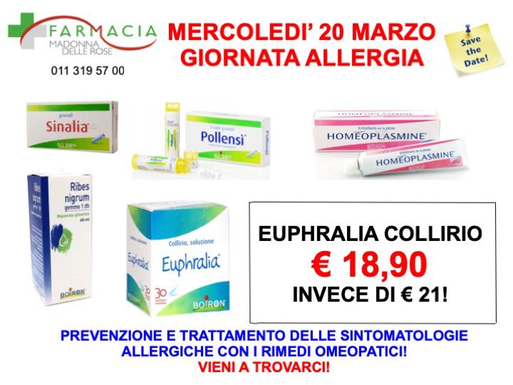Giornata Allergia Boiron 20 03